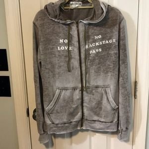 Wildfox no love no backstage pass hoodie small